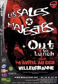 Flyer Les sales Majestés + Out to lunch au CCO